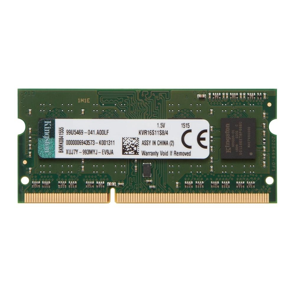 MEMÓRIA KINGSTON 4GB, 1600MHZ, DDR3, NOTEBOOK, CL11 - KVR16S11S8/4